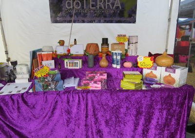 wellness products stall